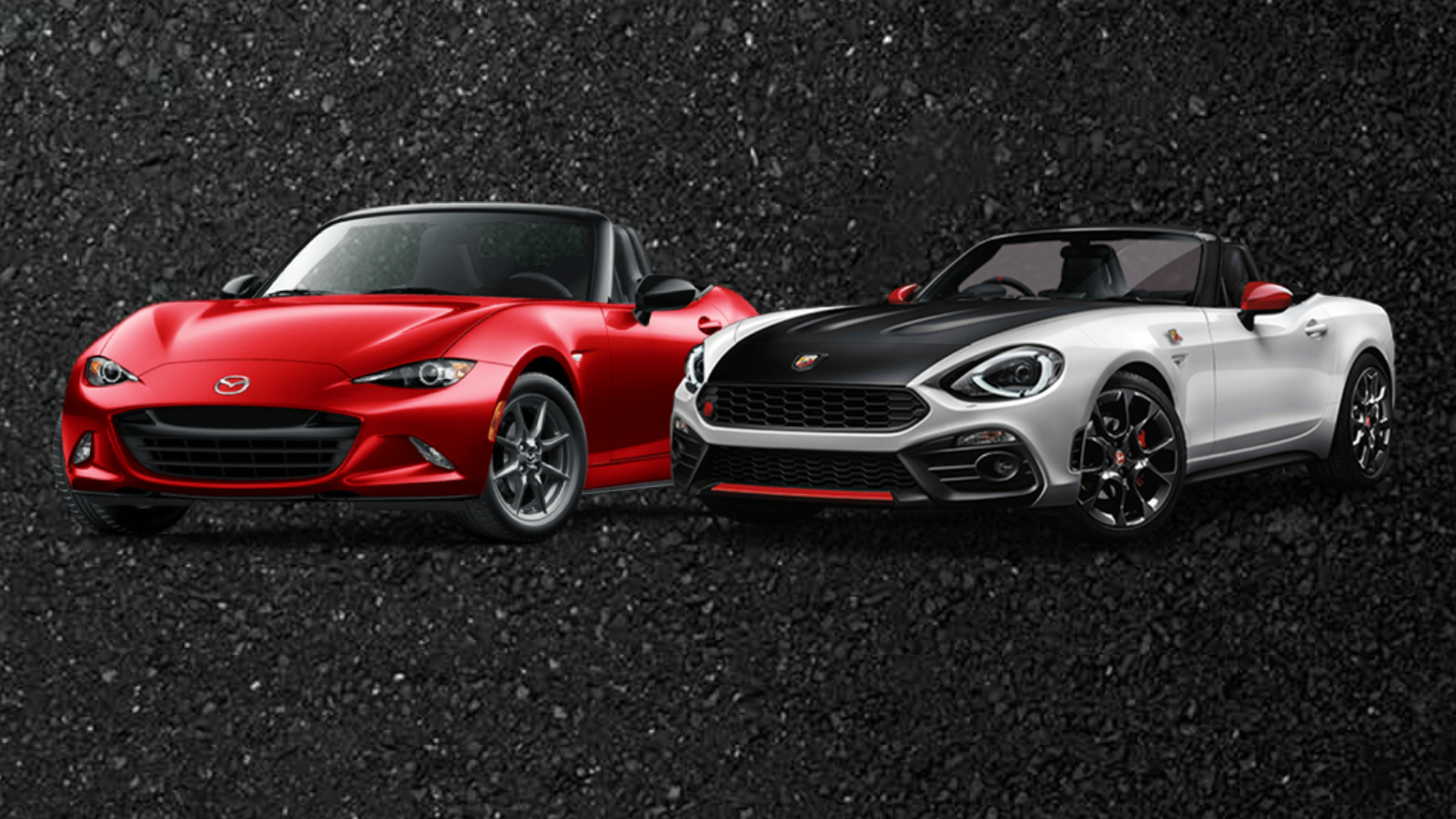 Mazda MX-5 en Abarth 124 Spider