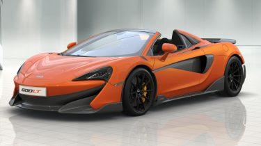 McLaren 600LT Spider Duik in de Prijslijst