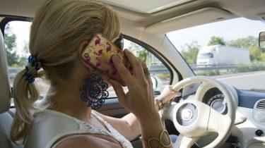 Mobiel gebruik in auto