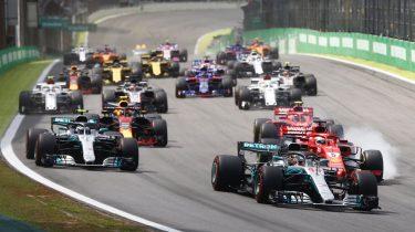Opening Formule 1 GP Brazilie zonder logo