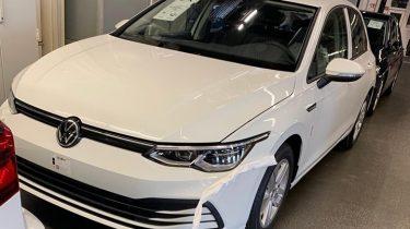 Spionage foto Volkswagen Golf 8