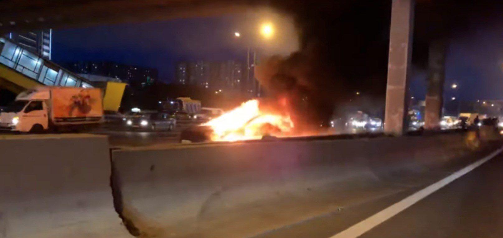 Tesla Model 3 Explosie