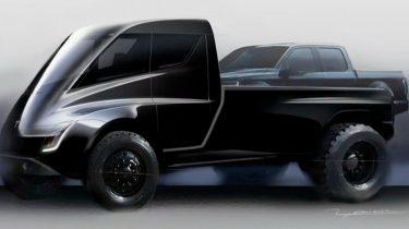 Tesla Pickup eerste schets