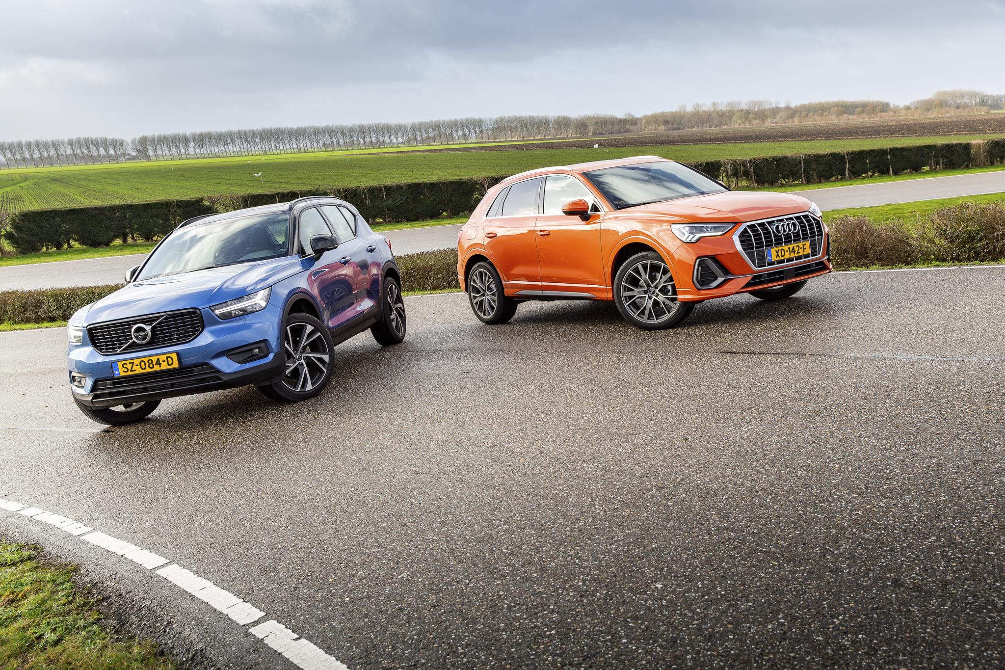 Audi Q3 en Volvo XC40